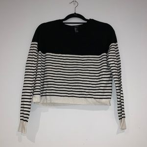 Forever 21 Black and White Striped Sweater
